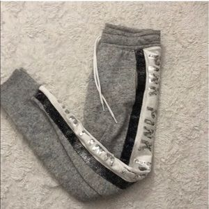 Grey bling joggers